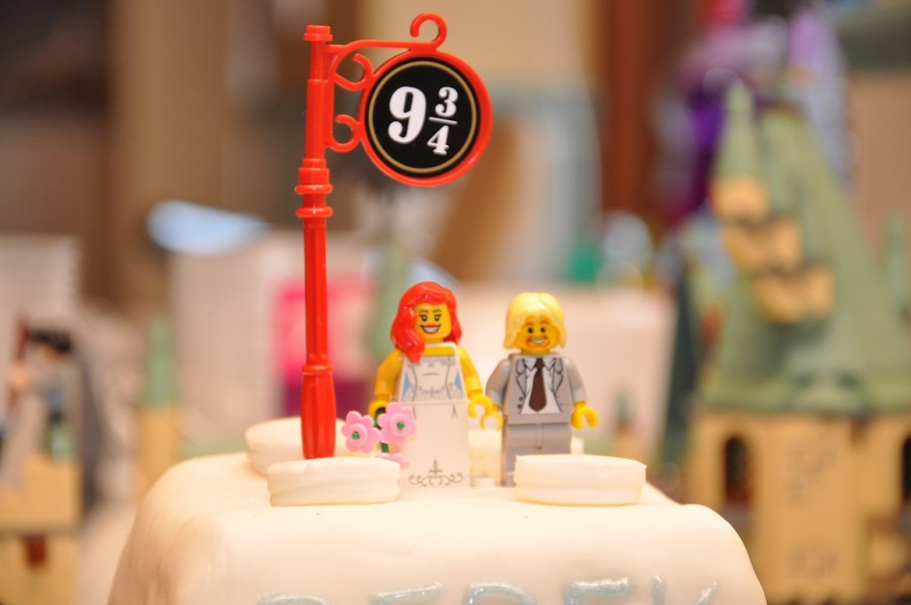 Jasmine and Derek Harry Potter Wedding Cake