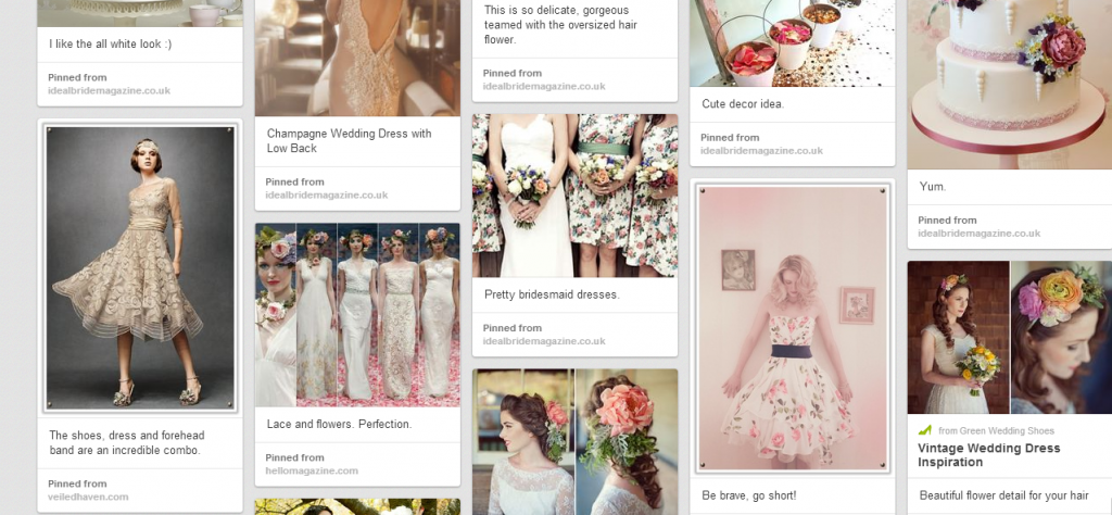 Vintage and Florals Moodboard