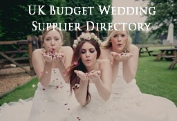 UK Budget Wedding Supplier Directory