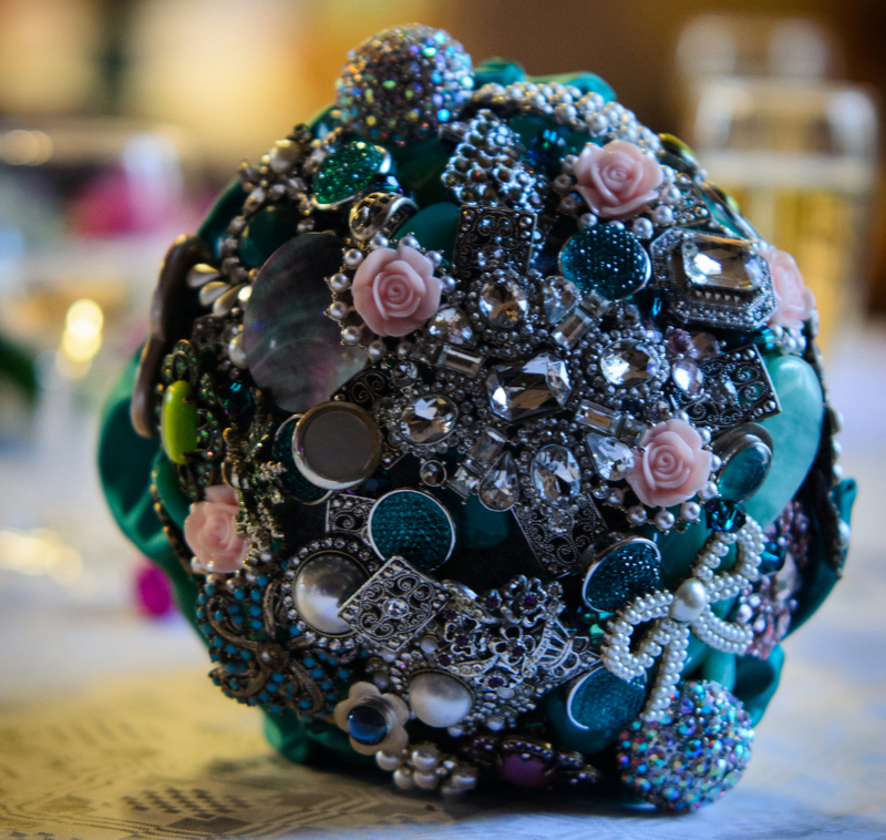 Budget Wedding Button Bouquet