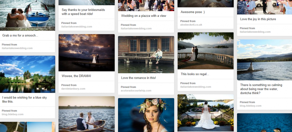 Lakeside Wedding Moodboard