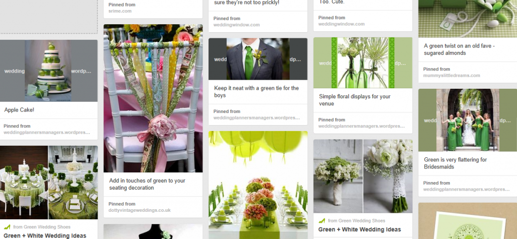 Light Green Wedding Mood Board Inspiration