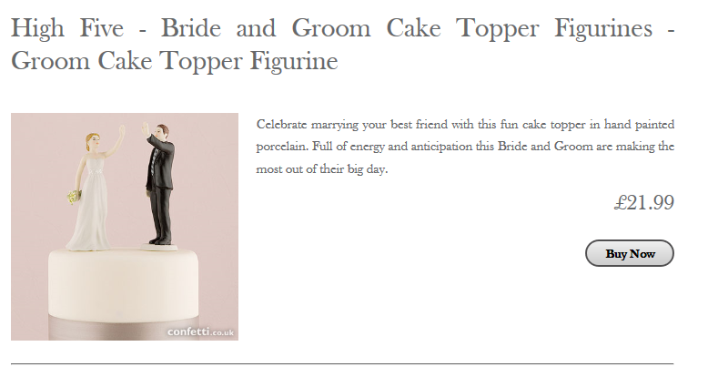 Budget Bride Boutique Cake Topper