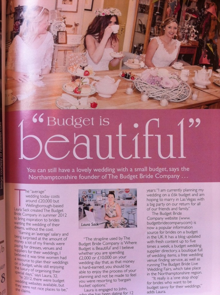 Budget Bride Company Budget Wedding Feature in Image Wedding Special Issue