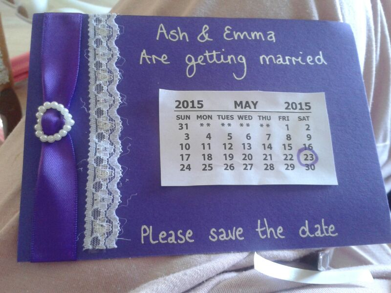 Cute Purple Save the Date