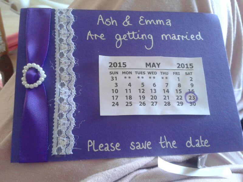 Cute Purple Save the Date