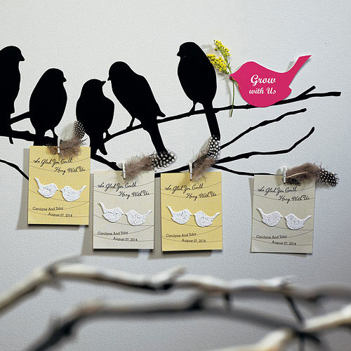 Cheap wedding favour ideas - personalised seed wedding favour cards