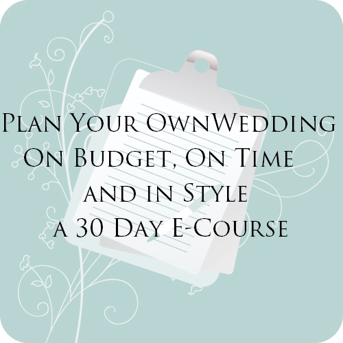 Wedding Planning E-Course for Brides