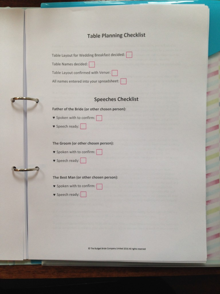 Handmade A4 Personalised Wedding Planner Presented In A Beautiful Folder